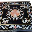 Size 3'x3' Marble Dining Coffee Table Top Inlay Marquetry Home Decor Furnitures