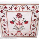 Size 2'x2' White Marble Center Coffee Corner Table Top Rare Inlay Mosaic Decor