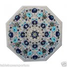 Size 2'x2' White Marble Coffee Table Top Rare Inlay Mosaic Decor Christmas Gifts
