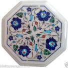 Size 1'x1' White Marble Center Side Coffee Table Top Inlay Marquetry Mosaic Deco