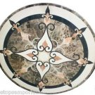 """Size 24""""x24"""" Marble Coffee Table Top Semi Precious Mosaic Inlay Marquetry Decor"""