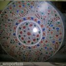 """48"""" Round Marble Dining Very Fine Floral Inlay Arts Table Top Coffee Mosaic Gift"""