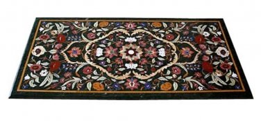4'x2' Marble Dining Table Top Rear Inlay Mosaic Grand Pietradure Work Home Decor