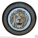 """Size 30""""x30"""" Marble Coffee Table Top Inlay Gems Lion Face Mosaic Home Decor"""