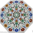"""Size 24""""x24"""" Marble Coffee Side Table Top Mosaic Inlay Marquetry Art Garden Deco"""