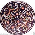 "Size 24""x24"" Marble Coffee Table Top Semi Precious Stone Mosaic Inlay Decorative"