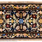 4'x2.5' Marble Dining Side Coffee Table Top Real Inlay Marquetry Mosaic Home