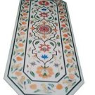 Size 2.5'x5' Marble Dining Center Table Top Semi Precious Inlay Mosaic Home Deco