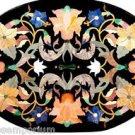 "Size 18""x36"" Italian Marble Dining Table Top Mosaic Style Inlay Pietradure Decor"
