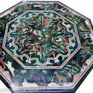"""Size 36""""x36"""" Marble Coffee Table Top Grand Pietradure Animals Mosaic Inlay Works"""