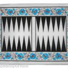 """Size 12""""x18"""" Marble End Coffee Table Top Rare Turquoise Mosaic Home Decor"""