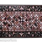 Size 2.5'x4.5' Marble Dining Table Top Rare Marquetry Inlaid Mosaic Patio Decor