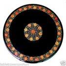 "Size 30""x30"" Italian Marble Coffee Table Top Carnelian Marquetry Inlay Work Deco"