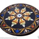 "Size 36""x36"" Marble Coffee Table Top Real Inlay Mosaic Marquetry Arts Home Decor"