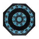 """Size 18"""" Marble Coffee Table Top Turquoise Furniture Inlay Christmas Day Gifts"""