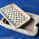 Marble Five Soap Stone Lot Dish Tray Holder Bathroom accessories Handmade decor