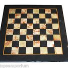 "Size 24""x24"" Marble Side Coffee Chess Table Top Jasper Inlay Mosaic Patio Decor"