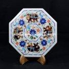 "9"" Decorative Marble Octagon Plate/Tiles Modern Inlaid Arts Patio Decor H5433A"