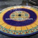 "54"" Marvelous Marble Hallway Table Mosaic Lapis Inlay Occasional Decor H5272A"