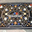 4'x3' Black Marble Dining Table Top Marquetry Inlay Furniture Mosaic Arts Decor
