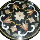 """30""""X30"""" Marble Dining Table Top Inlaid Mosaic Floral Art Marquetry Decor H921A"""
