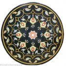 """36"""" Marble Dining Round Table Top Handmade Furniture Scagliola Home Decor Art"""