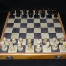 """12""""x12"""" Marble Ebony Gorara Handcrafted Chess Set  Play & Gifts stone pieces Art"""