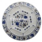 """12"""" White Marble Round Dish Plate Lattice Arts Christmas Inlay Table Decor Gifts"""