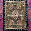 Wall Hanging Hand Crafted Embroidery Rug Carpet Traditional Design Gift Art M105
