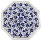 Marble Coffee Center Table Top Lapis Lazuli Mosaic Inlaid Decor Home Arts H1379
