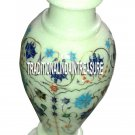 """10"""" Decorative White Marble Flower Vases Mosaic Art Inlay Floral Work Decor Gift"""