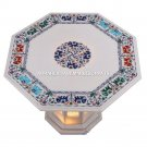 Glamorous Marble Hallway Outdoor Table Multi Elephant Inlay Furniture Decor M071