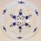 """12"""" Marble Plate Filigree Lapis Stone Inlay Marquetry Decor Collectible Gifts"""