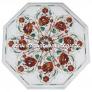 White Marble Restaurant Table Top Carnelian Inlay Floral Work Home Decor H3062