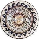 Marble Dining Table Semi Precious Mosaic Inlaid Italian Restaurant Decor H3828