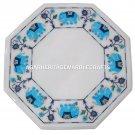 "5 PCS Lot 12"" Marble Coffee Table Top Inlay Pietra Dura Elephant Arts Home Decor"