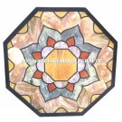 """24"""" Marble Coffee Center Table Top Stone Inlaid Marquetry Furniture Decor H2899"""