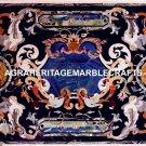 Marble Hallway Dining Table Top Lapis Lazuli Pietradura Inlay Garden Decor H5620