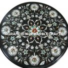 "15"" Marble Custom Table Top Mother of Pearl Inlaid Marquetry Gifts Decor H2958"