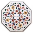 3' White Marble Coffee Table Top Hakik Inlay Marquetry Arts Best Decorative H492