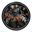 """23""""x23"""" Marble Coffee Table Mosaic Inlaid Grand Pietradure Marquetry Furniture"""