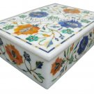 Decorative Marble Jewelry Box Handmade Marquetry Inlay Thanks Giving Decor H1918