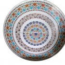 Intregrate Marble Round Multi Stone Dining Round Table Top Occasion Decor H4559
