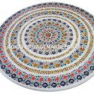 """48"""" Attractive Marble Dining Table Top Mosaic Inlay Home Occasional Decor H4436"""
