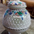 """10"""" Marble Pot Mosaic Floral Decor Inlay Art Marquetry Giving Tuesday Decor Gift"""