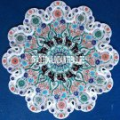 """21"""" Marvelous Marble Dish Plate Multi Stone Inlay Mosaic Home Decor Gifts H3127"""