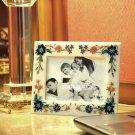 Marble Photo Frame Lapis Floral Arts Inlay Pietradura Decor Home Art Gifts H3671