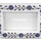 White Marble Photo Frame Rare Lapis Stone Mosaic Art Inlay Home Decorative Gifts
