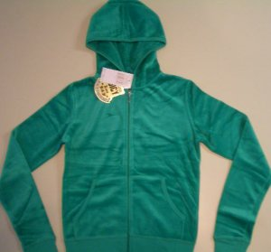 NWT Juicy Couture Gainsburg Green Velour Suit Size Petite