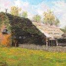 """Oil Painting — Cottage—Fine Art Oil Painting-Size: 8"""" x  12""""(20 cm x 30 cm)"""